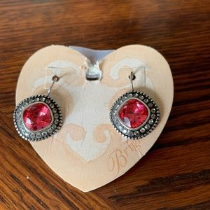 Brighton Red Earrings NWT